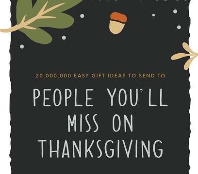 Thanksgiving Gift Ideas - 2017