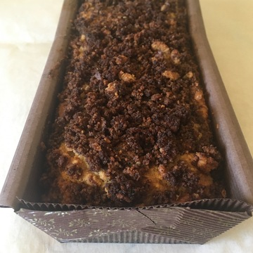 Medium cinnamon walnut coffee cake
